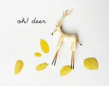 Miniature Deer/ Tiny Clay Deer/Miniature Doe Deer/ Christmas Decorations/Deer Terrarium Accessories