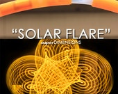 "LED Hoop - 'SOLAR FLARE'  - 3/4"" Polypro. Made in any size 28"" - 36""."