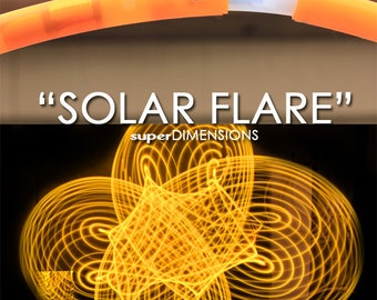 """LED Hoop - 'SOLAR FLARE'  - 3/4"""" Polypro. Made in any size 26"""" - 36"""". Free 3M Inside Grip Option!"""