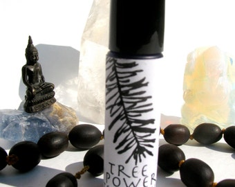 tree power temple oil made with balsam fir, birch and pine  roll- on natural perfume anointing oil