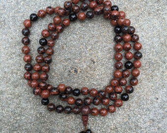 Brecciated Jasper 108 Bead Mala Necklace