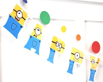 Minions HAPPY BIRTHDAY Banner - Party Minions