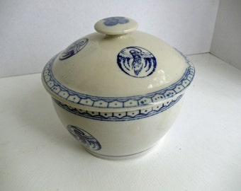 Blue and White Covered Casserole Dish