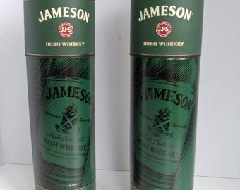 2 Jameson Whiskey Canisters