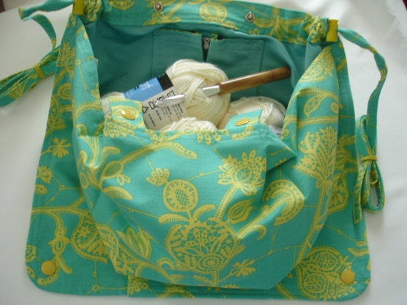 Amy Butler Knitting Bag Pattern : KNITTING BAG APRON Amy Butler Lark Collections by KOALACaddie