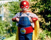 Personalized Superhero Kit - Superhero Cape, Mask, Cuffs and Belt, Ideal for Halloween Costume or Dress Up