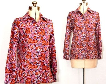 Vintage 70s Leaves of an Autumn Morning Shirt - Vera Brand