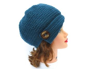 Cloche Hat Pattern, Crochet Hat Pattern, Crochet Cloche Pattern, Flapper Hat Pattern, Crochet Patterns For Women, Crochet Beanie Pattern