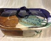 Abalone colored 2 qt.  Casserole with lid.