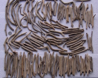 147 Natural Driftwood Sticks Mosaic Art and Craft Supplies (1662)