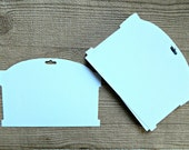 White wide headband display cards ( 10 count ), paper board cards for statement bows and clips or stretch headbands DIY craft show supplies