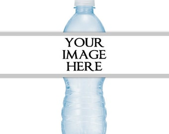 Custom PRINTABLE Water Bottle Label - customized for your occasion or business, you print, you cut, DIY label