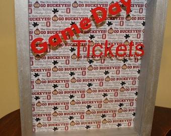 Game Day Ticket Box, Ohio State, Ticket Holder, Ticket Box, Ticket Shadow Box, Ticket Stubs
