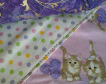 lil kittens crib blanket and pillow