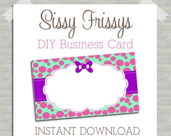 INSTANT DOWNLOAD - DIY Business Card - Digital File - Blank Template - Business Card File - Earring Jewelry Card - 242732487