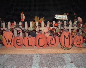 Pumpkin Welcome Fence