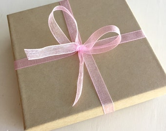 ADD ON - Necklace Gift Box Wrapped With Ribbon