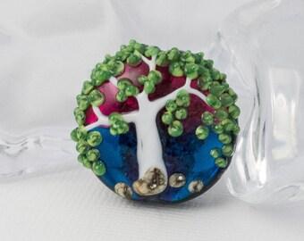 Tree Lampwork Bead