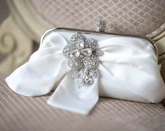 Bridal Purse,  Bridal Handbag, Wedding purse, Bridal Clutch