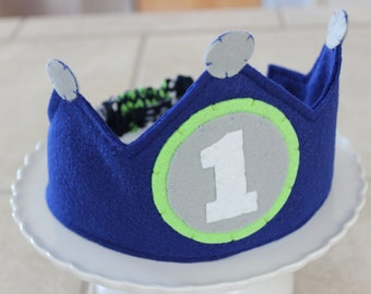 Seahawks Inspired Birthday Crown