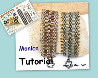 Tutorial Monica SuperDuo and Tila Beadwork Bracelet PDF