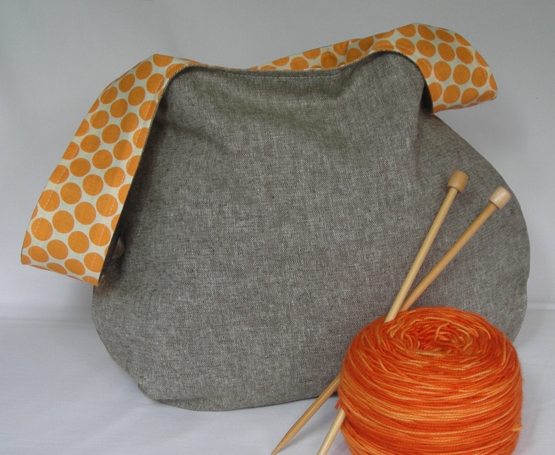 Knot Bag Knitting Pattern : Japanese Knot Bag Project bag medium size knitting