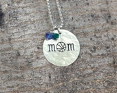 Basketball Mom Necklace, Basketball Mom Jewelry, Team Mom Gift Team Spirit Jewelry Sports Necklace