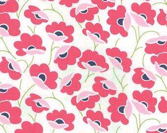 Fabric - Color Theory Pink Floral on White Background by V and Co. for Moda - Yardage - 10830 11