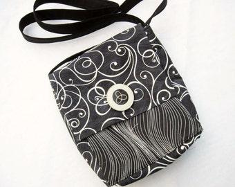 Small cross body purse cell phone holder foldover bag