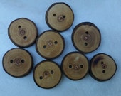 Buttons, Wood, Sweetgum, 1 Inch, Set of 8