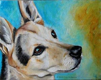 Pet Portrait, Custom Acrylic Painting, Pet Painting, Dog Portrait, Cat Portrait