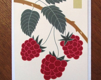 Raspberry Note Card