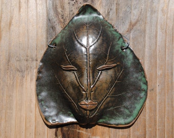 ceramic leaf mask  garden house decoration