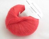 deSTASH Estelle Watercolours Melon Orange Mohair blend knitting yarn