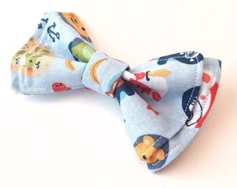 Boys Bow Ties - Pirate Pals Bow Tie - Bow Ties Toddler - Newborn Bow Tie - Beach Wedding - Bowtie - Nautical Bow tie - Nautical tie