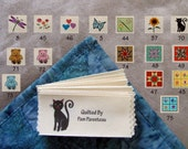 """Personalized Quilting Labels-Large size-1.5"""" x 3.5""""=16 Designs to Choose From"""