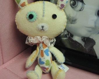 Reserved - cream Felt Rabbit bunny friend,