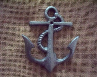 Anchor wall hook,  beach wall hook, nautical wall hook, cast iron hook.