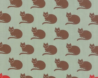 SALE Neco by Momo for Moda Lucky Cats in Sky 1 yard