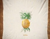 Aloha (pineapple) on Eco Friendly Unbleached Cotton Kitchen Towels