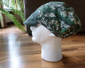 Floppy Corduroy Patchwork Green Floral Festival Hat