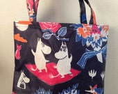 Moomin OIL cloth tote bag, purse, super cute from Finland