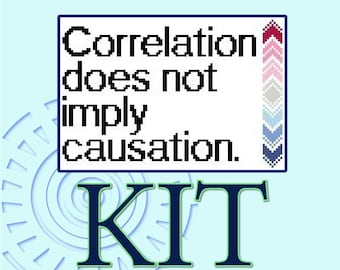Correlation does not imply causation - Cross-stitch Kit
