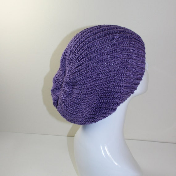 Slouch Hat Knitting Pattern Circular Needles : 40% OFF SALE Madmonkeyknits Unisex Fishermans Rib Slouch Hat CIRCULAR knittin...