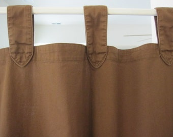 Tab Top Curtain, Chocolate Brown Tab Top Curtain 80 long....a total of 2 are available