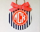 Monogram Key Chain, Double Sided
