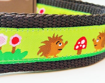 Happy Hedgehogs - Dog Collar / Handmade / Adjustable / Pet Accessories / Pet Lover / Gift Idea