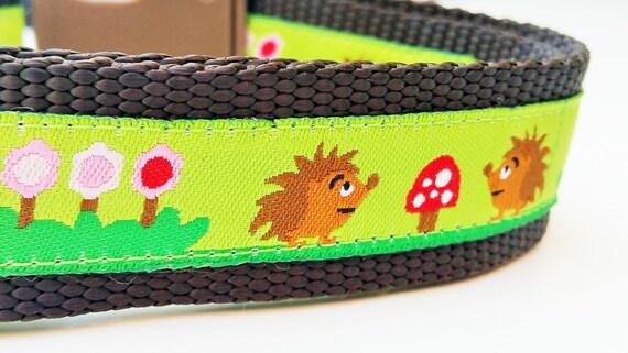 Happy Hedgehogs - Dog Collar / Handmade / Adjustable / Pet Accessories / Pet Lover / Gift Idea