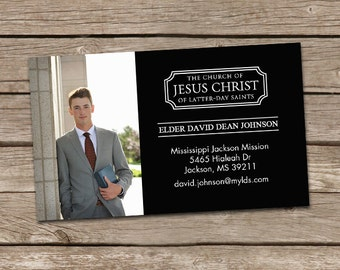 Missionary Tag LDS Mission Card : Custom Photo Card