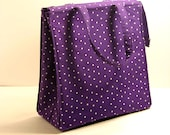 Purple Lunch Bag Polka Dots Lunch Box Girls Lunch Bag